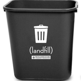 Small Deskside Trash Bin